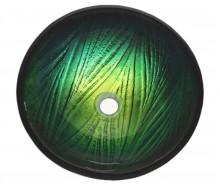 Круглая раковина из стекла  KRAUS