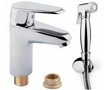Смеситель для раковины с гигиеническим душем  POTATO