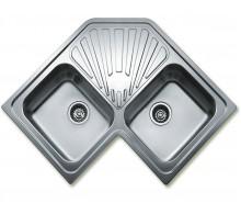 Кухонная мойка угловая на две чаши CLASSIC ANGULAR 2B