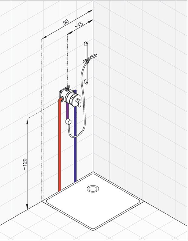 Схема для встраиваемого смесителя